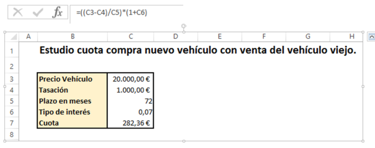 Tabla de datos en Excel